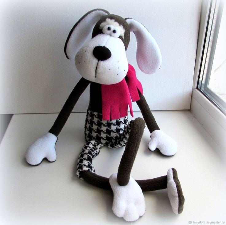 Купить Пес Барбос) Игрушка собака. Игрушка подарок на новый год в интернет магазине на Ярмарке Мастеров
