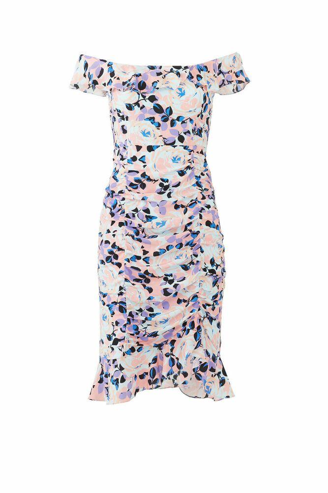 Ebay Ad Nanette Lepore Pink Women S Size 8 Ruffle Trim Flowery Print Dress 478 411 Wrap Dress Floral Silk Print Dress Floral Print Gowns