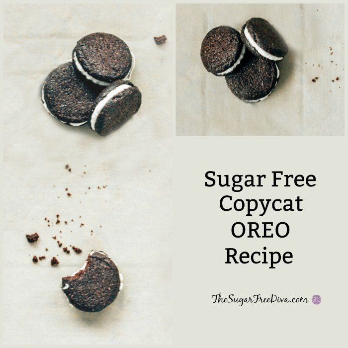 Sugar Free Copycat Oreo Cookies. The recipe actually exists! That is what I am thinking too!! Sugar Free Copycat Oreo Cookies A few years ago, I remember actually buying sugar free Oreo Cookies. They were available in your basic standard black and white cookie. They cost a bit more than...