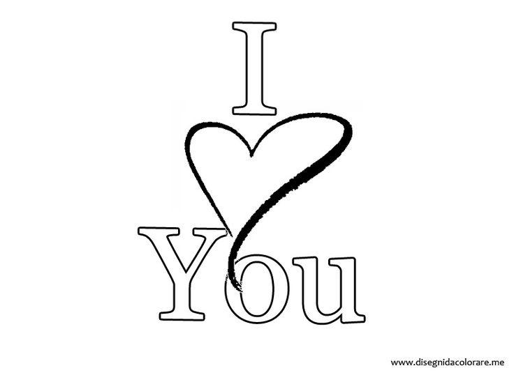 """scritta """" I Love You """""""