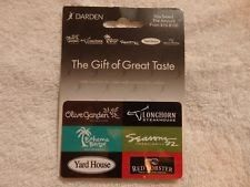 Darden Restaurants-Olive Garden Longhorn Steakhouse Red Lobster $50 gift card
