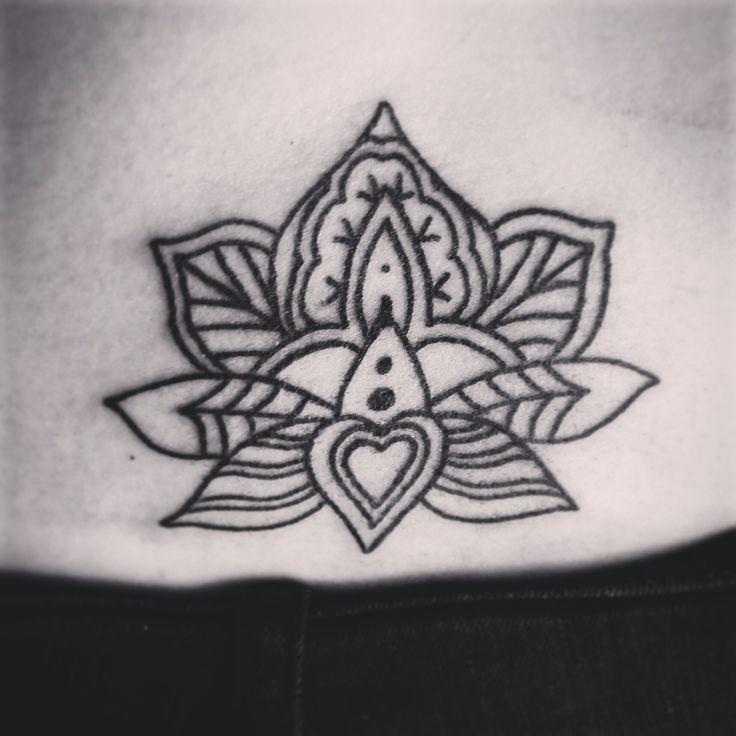 My lotus flower tattoo designed by @jintyharvey