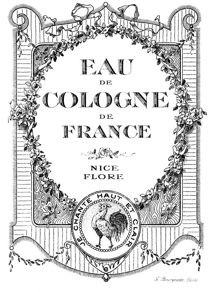vintage perfume label images   Vintage Graphic Images - Lovely French Cologne Labels - The Graphics ...