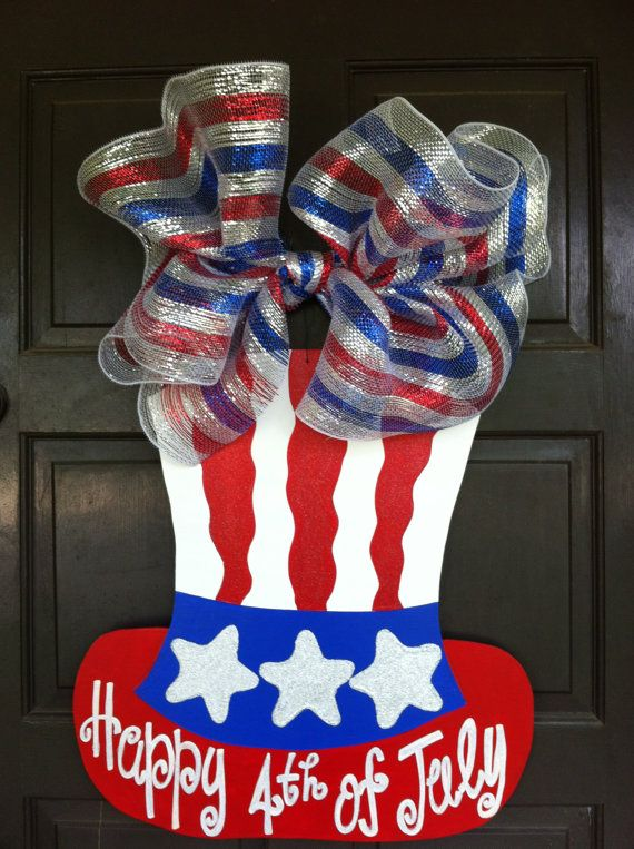 Fourth of July Wreath Fourth of July Door by DoodleBugCraftsbyR, $45.00
