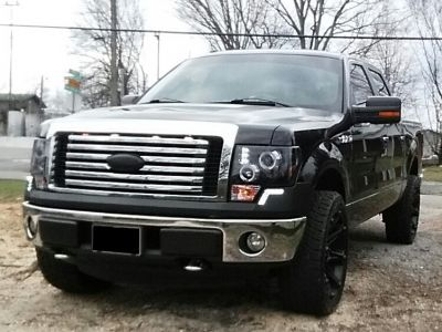 James's 2012 Ford F150 with LED DRL Front Upper Bumper Cover Black