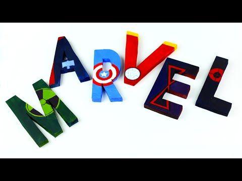 В этом видео уроке мы изготовим объемные буквы с персонажами Мстителей на английском языке для оформления вечеринки  либо детского день рождения! #3Dбуквы #марвел #мстители