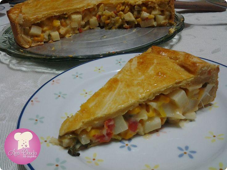 Torta de Palmito (massa de guaraná) http://www.anaclaudianacozinha.com/2014/01/torta-de-palmito-massa-com-guarana.html