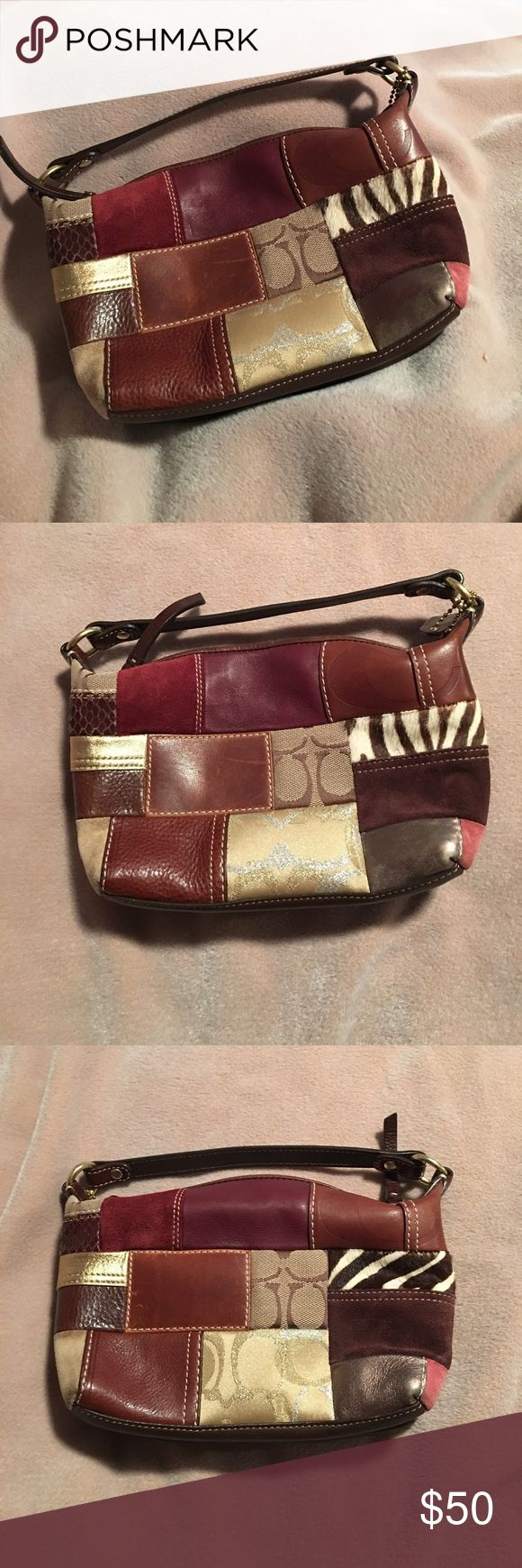 Coach Pocketbook Mini Coach Pocketbook. Very good condition. Different coach patches. Coach Bags Mini Bags