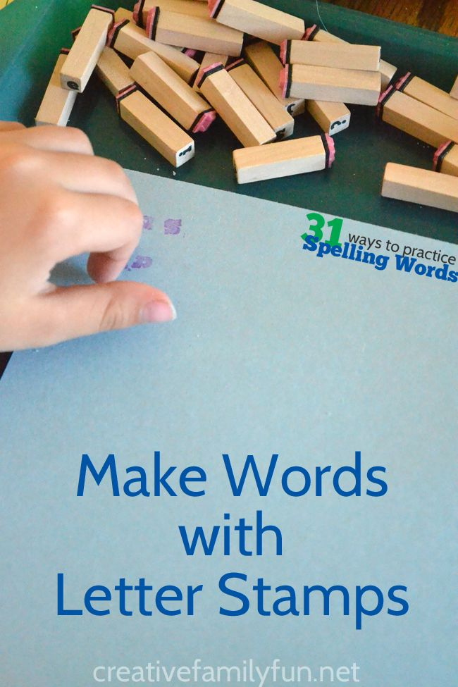 words made with letters make spelling words with letter stamps crafts 25711 | b3a00aff0580083e7a264243604e35a4