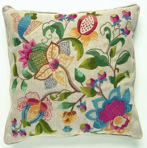 Charlotte Crewel Embroidery Cushion Kit by ColeshillCollection