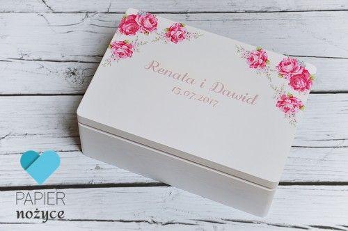 """Pink Roses"" - kufer na koperty ślubne"