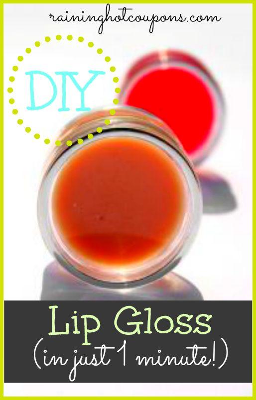 DIY Lip Gloss (In Just 1 Minute!) - Raining Hot Coupons