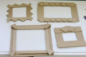 how to make a cardboard photo frame for kids