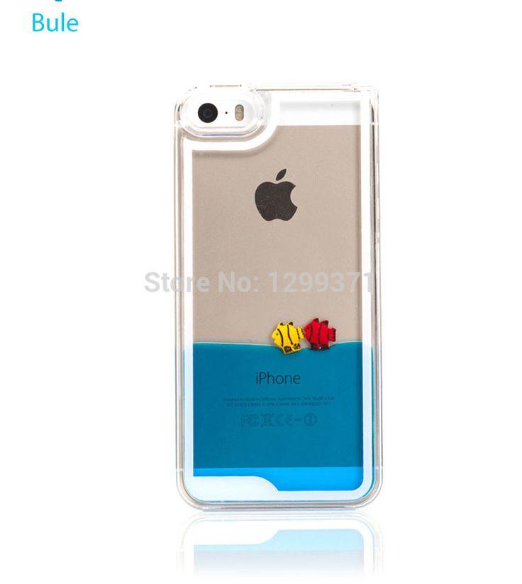 Жидкость рыбы оболочки твердый переплет чехол красочные динамического морской мир рыбой прозрачный чехол для iPhone 6 6 плюс 5 5S 5C 4 4S