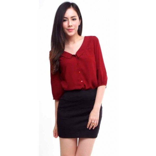 Chic Blouson in Deep Red