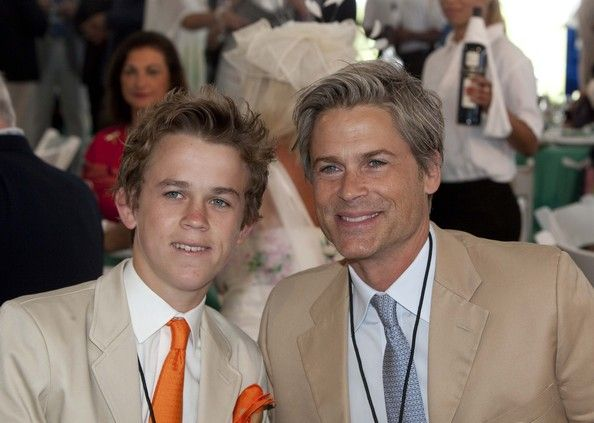 Rob Lowe and his son John Owen!!! :)