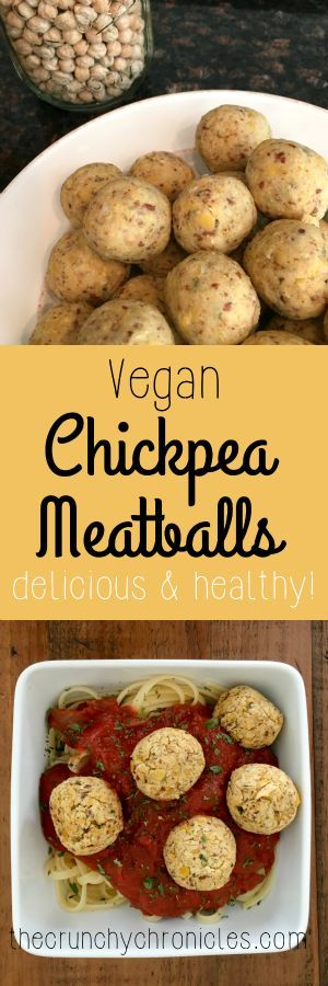 """Vegan Chickpea """"meatball"""" recipe - a delicious and healthy alternative meatball. Throw into tomato sauce over pasta, add to soups, or just eat a bowl of them!"""