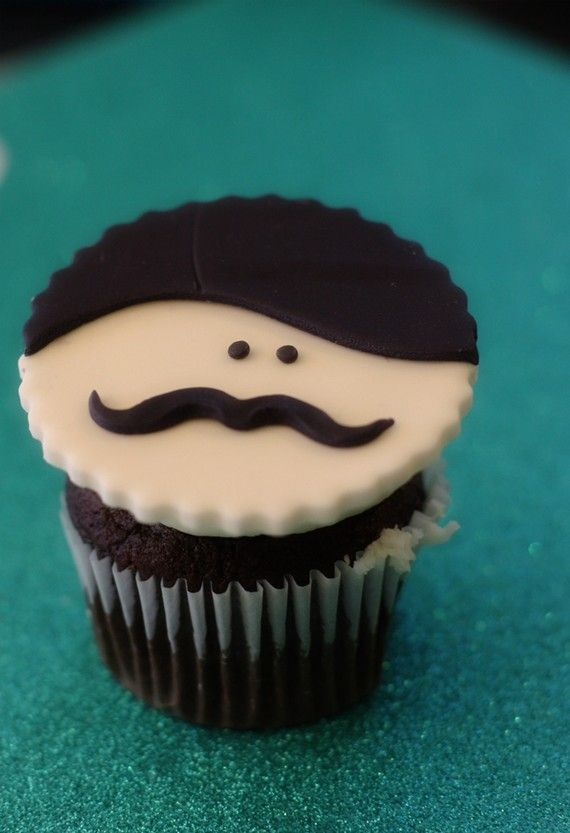 Mustache Men Fondant Face Toppers for Cupcakes, Cookies or Mini-Cakes Custom for brook holt