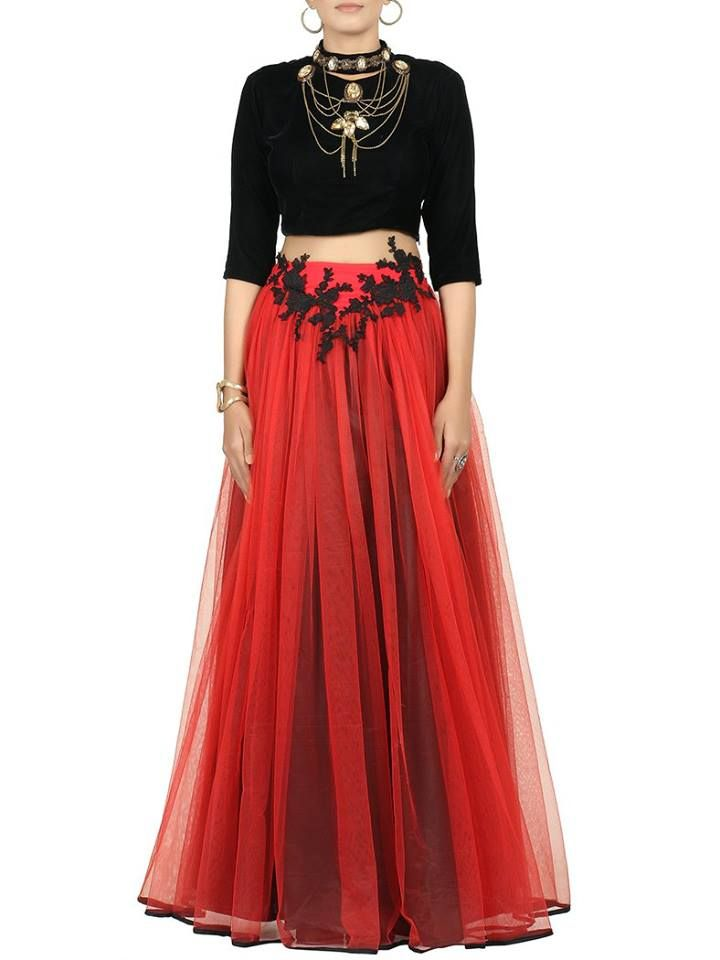 Red and Black beautiful outfit for those special occasions.