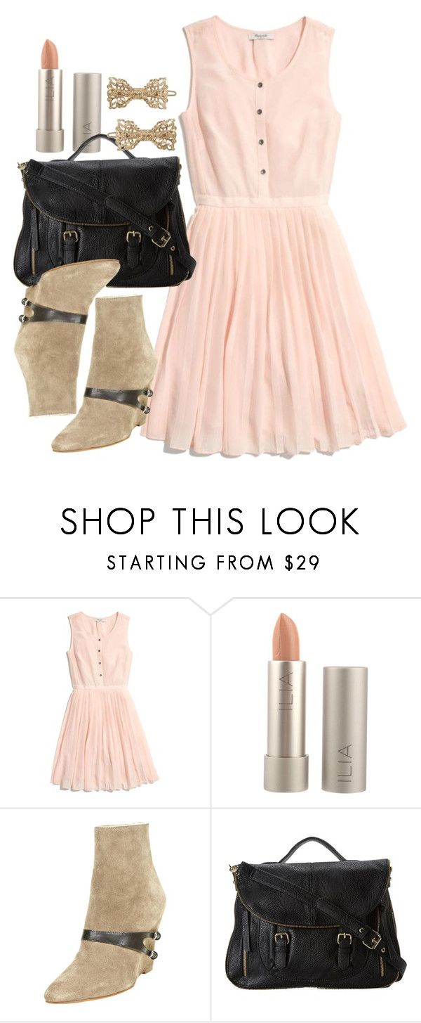 """""""Lydia Inspired Meeting the Parents Outfit"""" by veterization ❤ liked on Polyvore featuring Madewell, Ilia, Elizabeth and James, Steve Madden and Forever 21"""