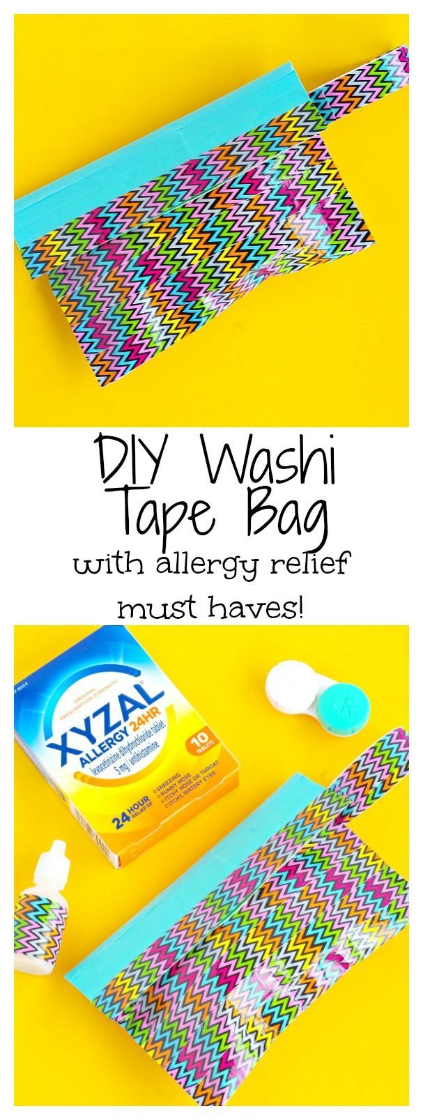 DIY Washi Tape Bag with allergy relief must haves #ad #forgetallergies