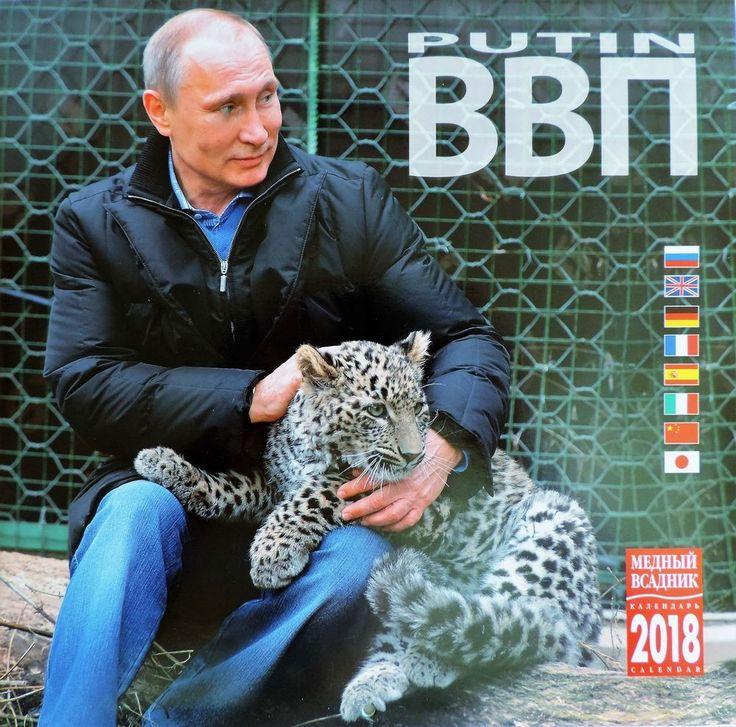 Wall Calendar 2018 Russian President Putin eng/fren/chin/jap/ger/span/ital new #TheBronzeHorsemanStPetersburg