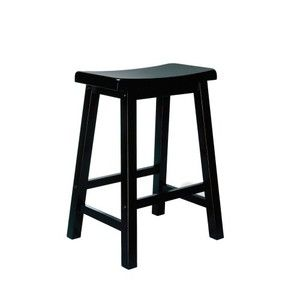 "Powell ""Antique Black"" with Sand Through Terra Cotta Counter Stool, 24"" Seat Height"