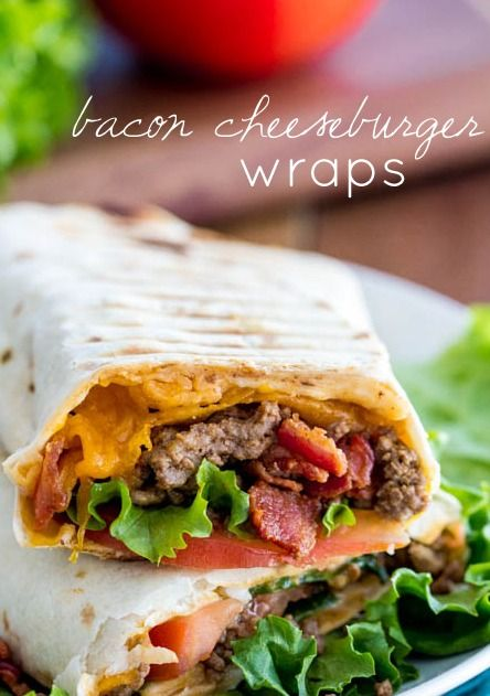 Bacon Cheeseburger Wraps | TheRecipeCritic .... Cameron LOVED these - and I didn't even make them with bacon :)