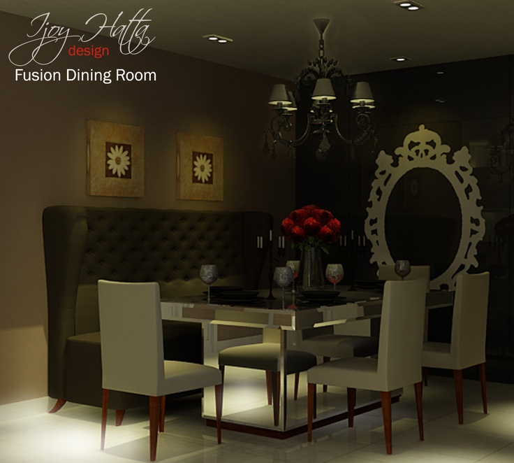 Romantic dining room with eclectic style