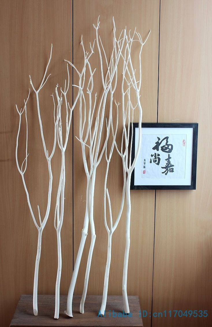 6 PCS Height from 80cm to 120cm Natural Wood White Tree Dried Branch Plant Home Wedding Decoration Gift F328
