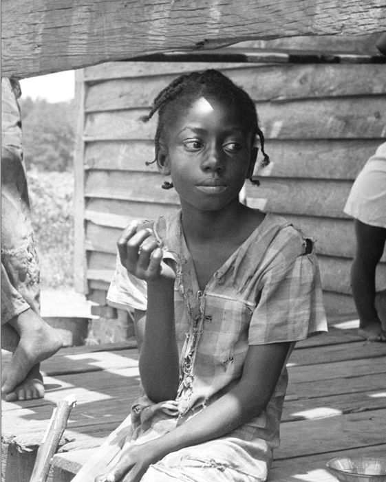 Dorothea LANGE :: Mississippi delta children - July, 1936 - DETAIL