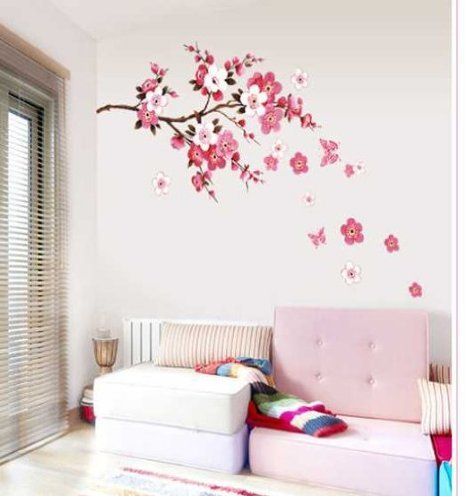 Amazon.com: 1 X Cherry Blossom Decal,cherry Blossom Wall Decal,tree Branch Stickers Girl Floral Wall Decor: Baby