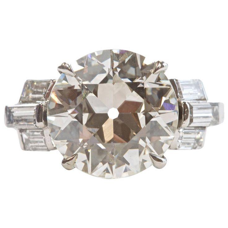 Platinum Engagement Rings  Carat Diamond