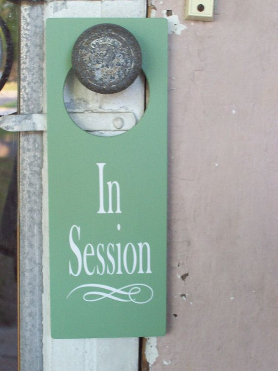 In Session Door Hanger  Business Retail Shop Spa by heartfeltgiver, $14.99
