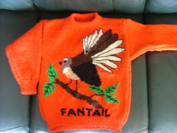 Cute Fantail 8 ply Jumper Pattern for sizes 22  40. by KraftyKiwis
