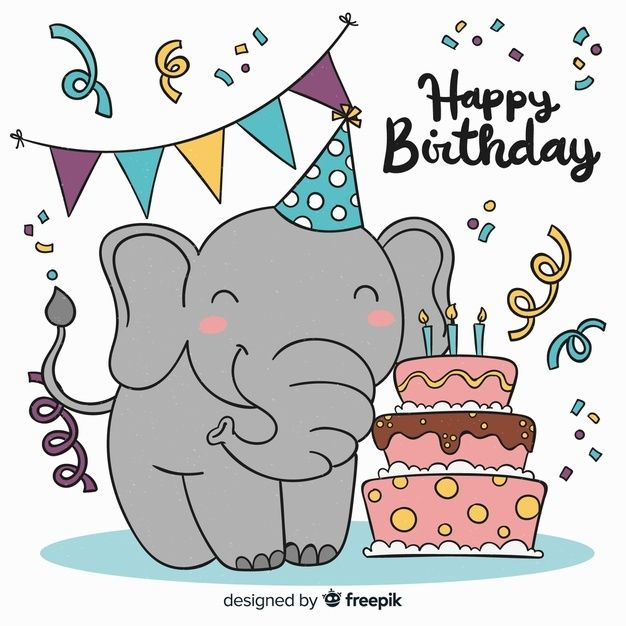 Birthday Elephant Kids Birthday Cards Happy Birthday Wishes Birthday Wishes