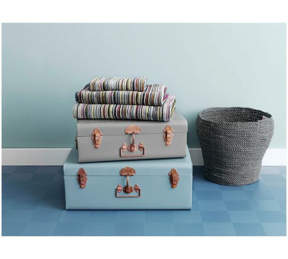 Buy Habitat Small Trunk with Copper Clasps - Grey at Argos.co.uk, visit Argos.co.uk to shop online for Children's toy boxes and storage, Children's furniture, Home and garden