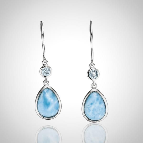 products teardrop dangles light silver larimar earrings years sterling