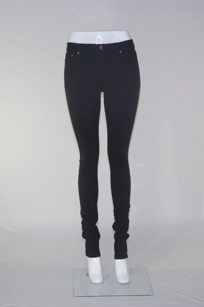 Womens | 504S Mid Rise Skinny Jeans | Black | Infinity Jeans | Size 8-18
