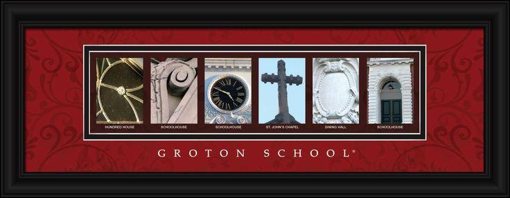 Groton School Officially Licensed Framed Letter Art - Groton, MA.