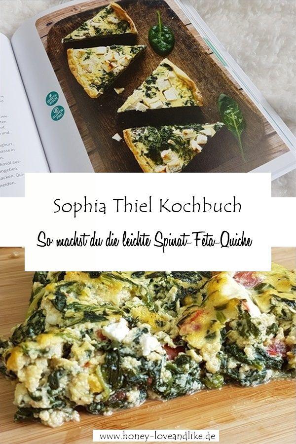 Nachgekocht Sophia Thiel : leichte Spinat-Feta-Quiche – lowcarb