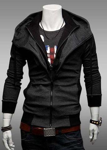 Man Essential Zipper Fly Casual Sweatshirt – teeteecee - fashion in style