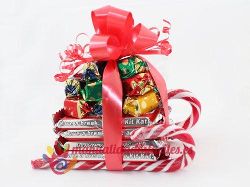 Trineo navideño de caramelos