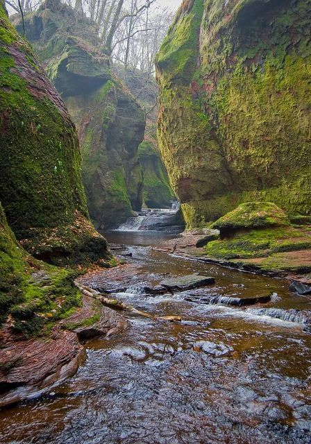 The Devils Pulpit in Finninch Glen, Scotland
