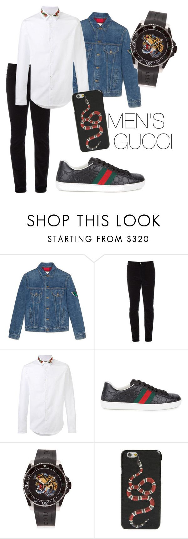 """outfit#96"" by alifia-fae on Polyvore featuring Gucci, men's fashion and menswear"