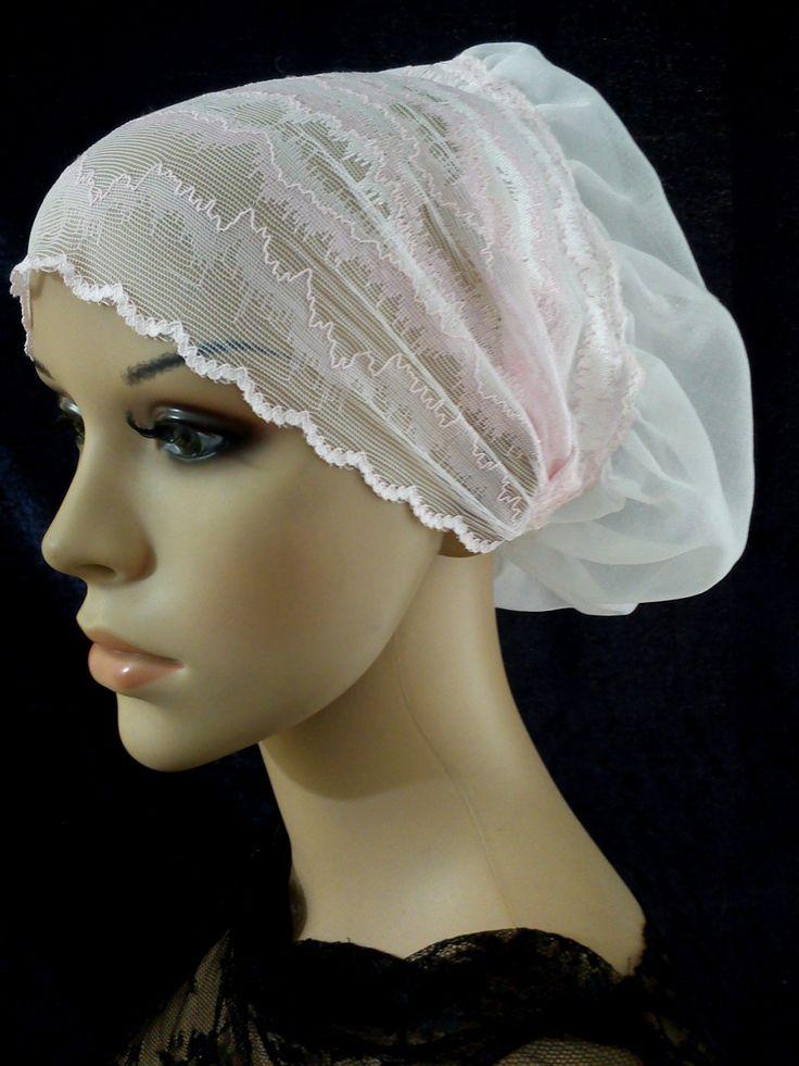 Lace Bonnet Snood Hair Cover Cap Scrub Hat Liner Under