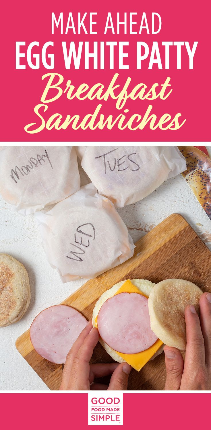 Jun 29, 2020 – Easy Make-Ahead Egg White Patty Freezer Breakfast Sandwiches that are healthier than any fast food versio…