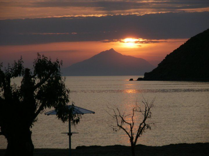 Sunset in Riha Nera, Lemnos Island, North Aegean, Greece.