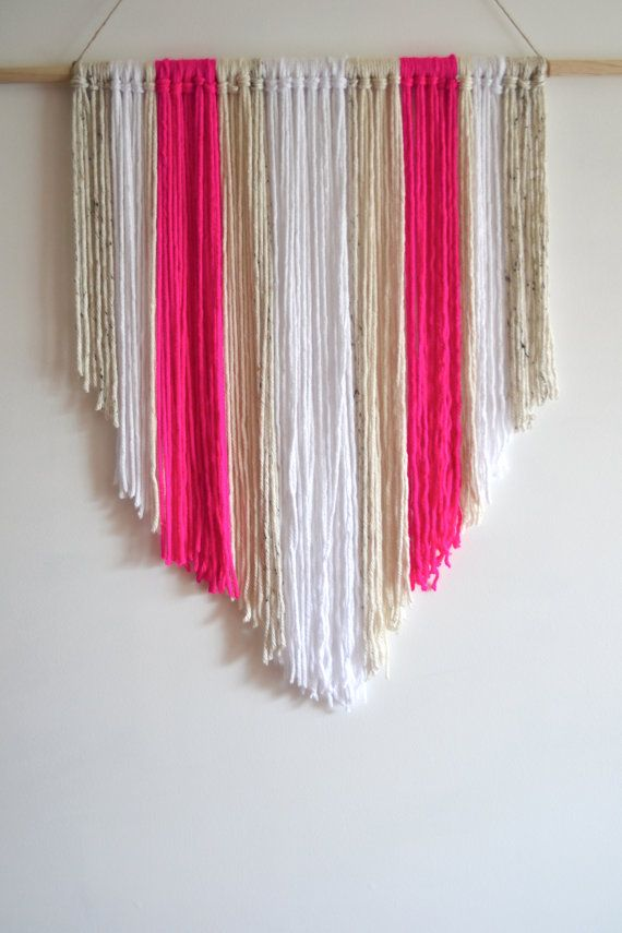 Easy DIY - Hand knotted Woven Wall Hanging Yarn tapestry by xomrsmeasom