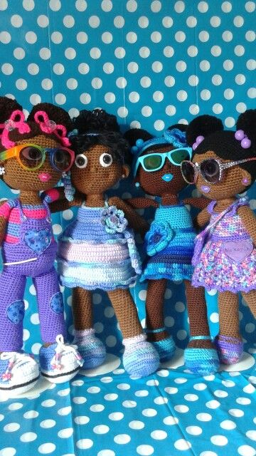 Crochet Dolls, African American girls!